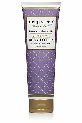 Deep Steep Argan Oil Body Lotion, Lavender Chamomile, 8 fl Ounce