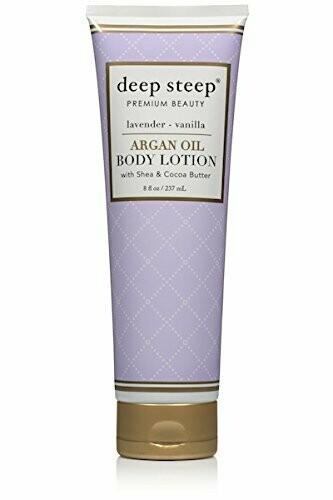 Deep Steep Argan Oil Body Lotion, Lavender Vanilla, 8 fl Ounce