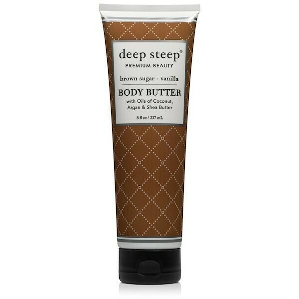 Deep Steep Premium Beauty Body Butter, Brown Sugar Vanilla, 8 fl Ounce