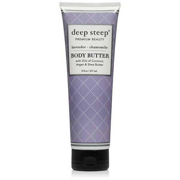 Deep Steep Premium Beauty Body Butter, Lavender Chamomile, 8 fl Ounce