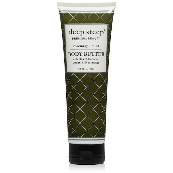 Deep Steep Premium Beauty Body Butter, Rosemary Mint, 8 fl Ounce