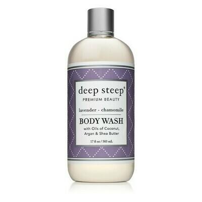 Deep Steep Premium Beauty Body Wash, Lavender Chamomile, 17 Ounce