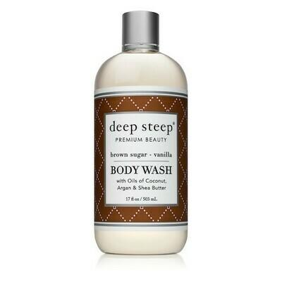 Deep Steep Premium Beauty Body Wash, Brown Sugar Vanilla, 17 Ounce