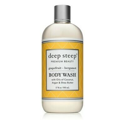 Deep Steep Premium Beauty Body Wash, Grapefruit Bergamot, 17 Ounce