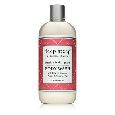 Deep Steep Premium Beauty Body Wash, Passion Fruit Guava, 17 Ounce