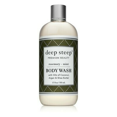 Deep Steep Premium Beauty Body Wash, Rosemary Mint, 17 Ounce