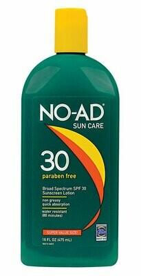 NO-AD Sun Care Sunscreen Lotion, SPF 30, 16 Ounce