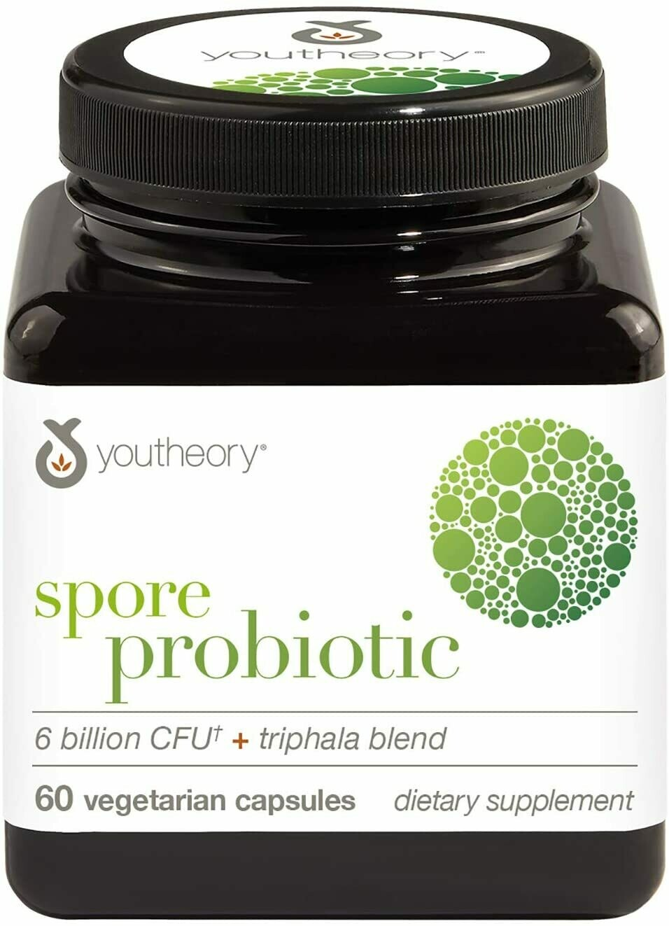 Youtheory Spore Probiotic with Triphala blend, 60 Vegetarian Capsules