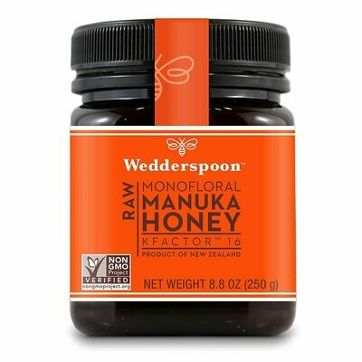 Wedderspoon Raw Manuka Honey KFactor 16, Unpasteurized, 8.8 Ounce