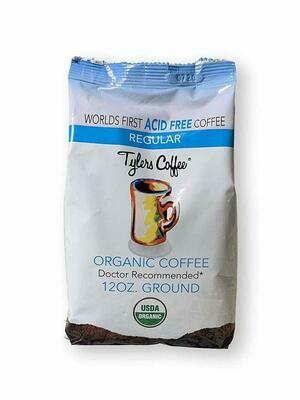 Tyler's Coffee Acid Free Regular Organic Coffee, 12 Ounce