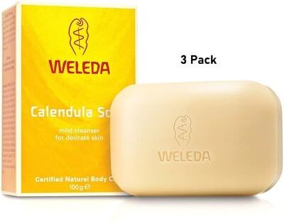 Weleda Calendula Soap, 3.5 Ounce, Pack of 3