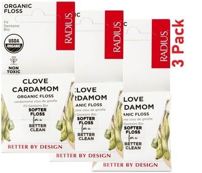 Radius Organic Dental Floss, Clove Cardamom, 1 Count, Pack of 3