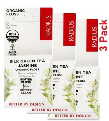 Radius Organic Dental Floss, Silk Green Tea Jasmine, 1 Count, Pack of 3