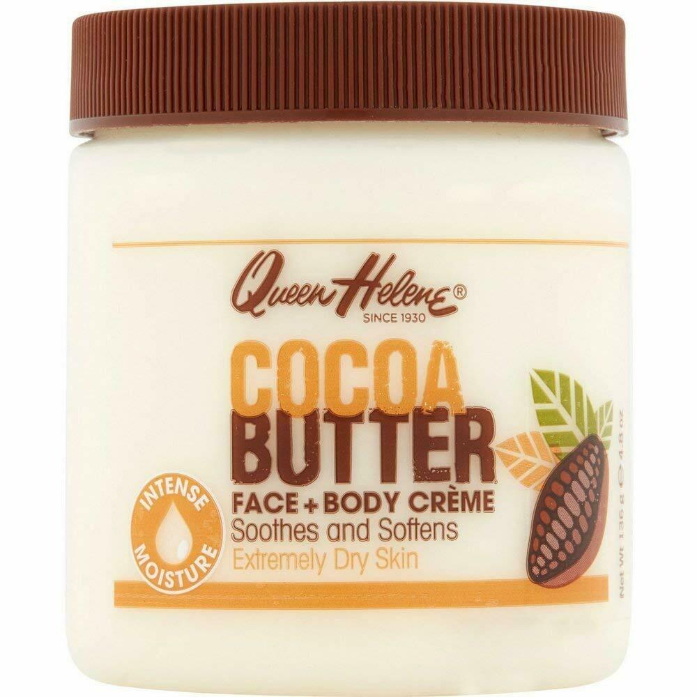 Queen Helene Cocoa Butter Face and Body Cream, 4.8 Ounce