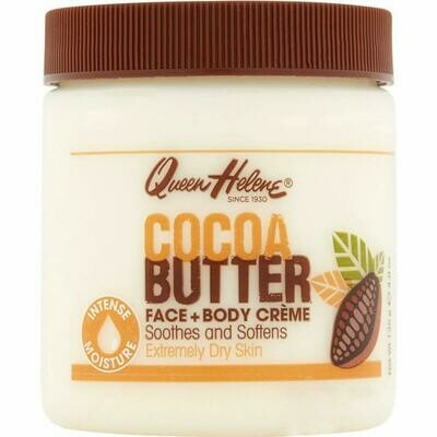 Queen Helene Cocoa Butter Face and Body Cream, 4.8 Ounce