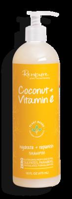 Renpure Coconut and Vitamin E Hydrate + Replenish Hair Shampoo, 16 fl Ounce