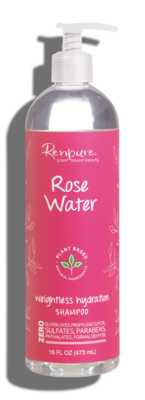 Renpure Rose Water Weightless Hydration Shampoo, 16 fl Ounce