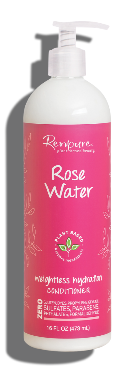 Renpure Rose Water Weightless Hydration Hair Conditioner, 16 fl Ounce