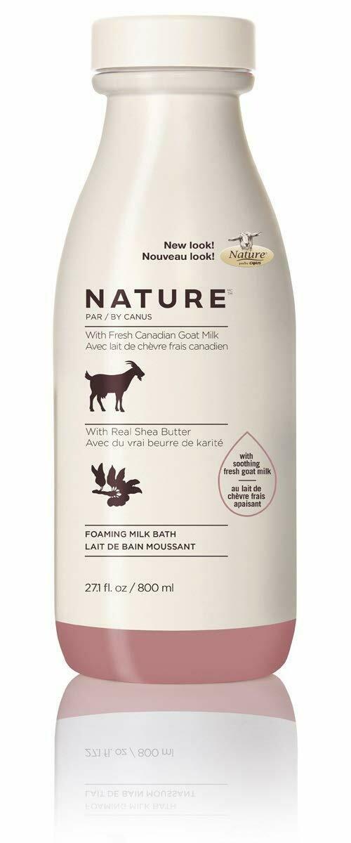 Nature by Canus Foaming Shea Butter Milk Bath, 27.1 fl Ounce