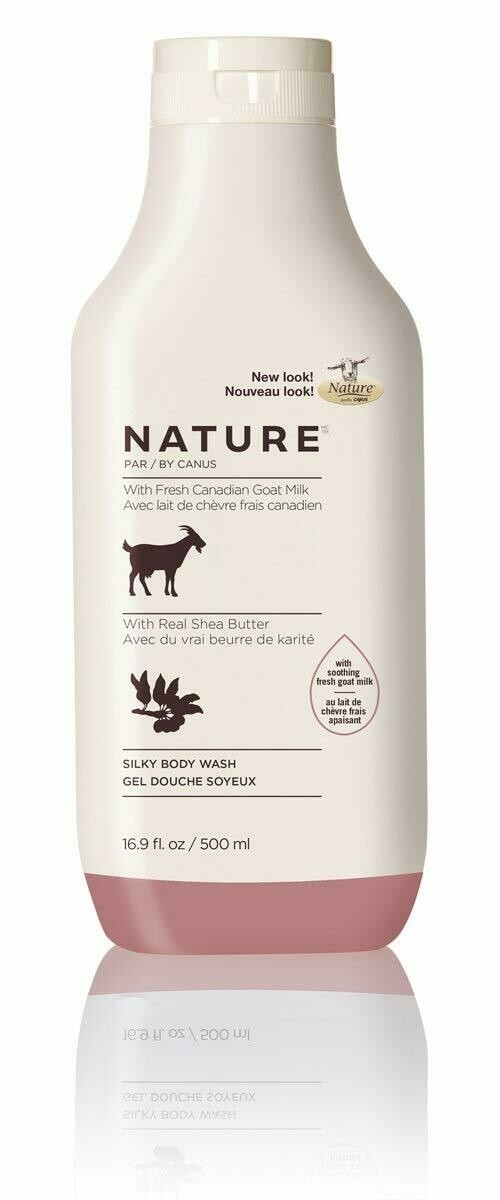 Nature By Canus Fresh Goats Milk Body Wash, Shea Butter, 16.9 Ounce