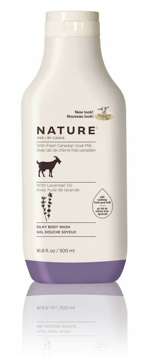 Nature By Canus Fresh Goats Milk Body Wash, Lavender Oil, 16.9 Ounce