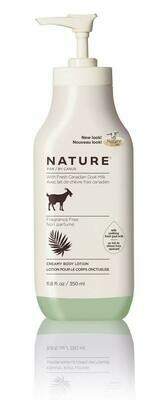 Nature by Canus, Fresh Goats Milk Body Lotion, Fragrance Free, 11.8 fl Ounce
