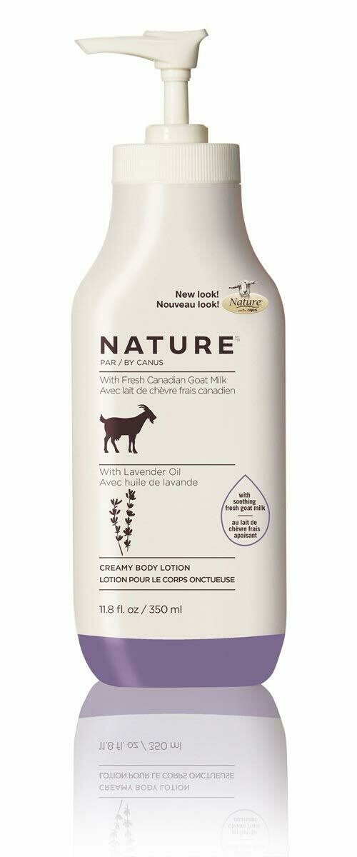 Nature By Canus Body Lotion Goats Milk, Lavender Oil,11.8 fl Ounce