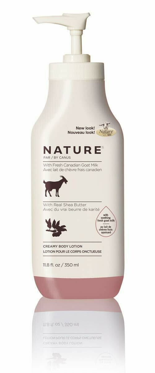 Nature By Canus Body Lotion Goats Milk, Shea Butter,11.8 fl Ounce