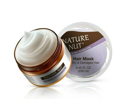 Nature Nut Hair Mask for Dry and Damaged Hair, 8.45 fl Ounce