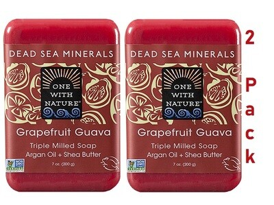 One With Nature Dead Sea Minerals Grapefruit Guava, 7 Ounce, Pack of 2