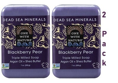 One With Nature Dead Sea Minerals Blackberry Pear, 7 Ounce, Pack of 2