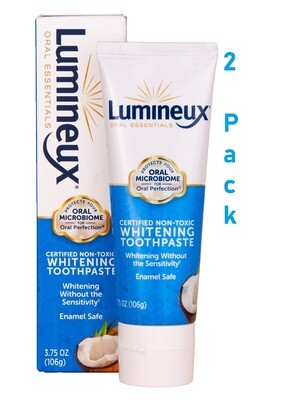 Lumineux Oral Essentials Teeth Whitening Toothpaste, 3.5 Ounce, Pack of 2