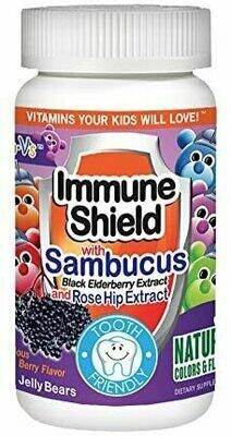 Yum V's Immune Shield with Sambucus, 60 Jellies