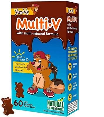 Yum-Vs MultiVitamins Chewables for Kids, Milk Chocolate, 60 Gummies