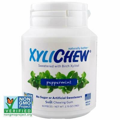 Xylichew Gum for Fresh Breath, Peppermint, 60 Pieces