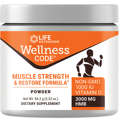 Life Extension Wellness Code Muscle Strength and Restore Formula, 3.32 Ounce