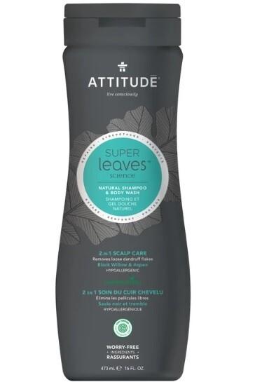 Attitude Super Leaves, Shampoo and Body Wash, Black Willow & Aspen, 16 fl Ounce