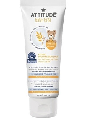 Attitude Natural Soothing Bath Soak Baby, Fragrance Free, 6.7 fl Ounce