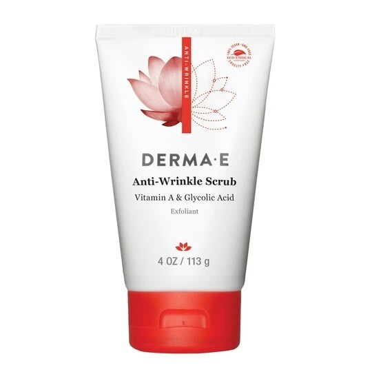 Derma E Anti Wrinkle Scrub with Glycolic Acid, 4 Ounce