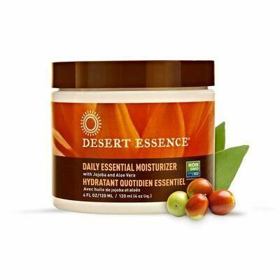 Desert Essence Daily Essential Facial Moisturizer, 4 fl Ounce