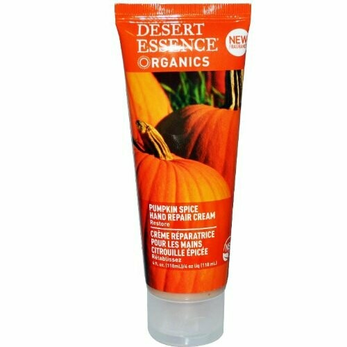 Desert Essence Pumpkin Spice Hand Repair Cream, 4 fl Ounce
