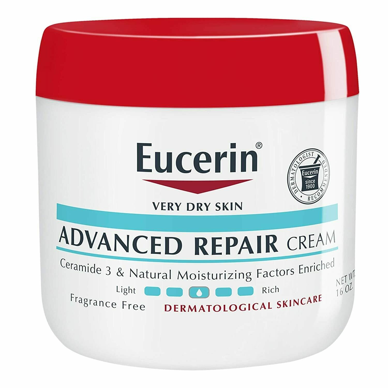 Eucerin Advanced Repair Cream for Dry Skin, Fragrance Free, 16 Ounce