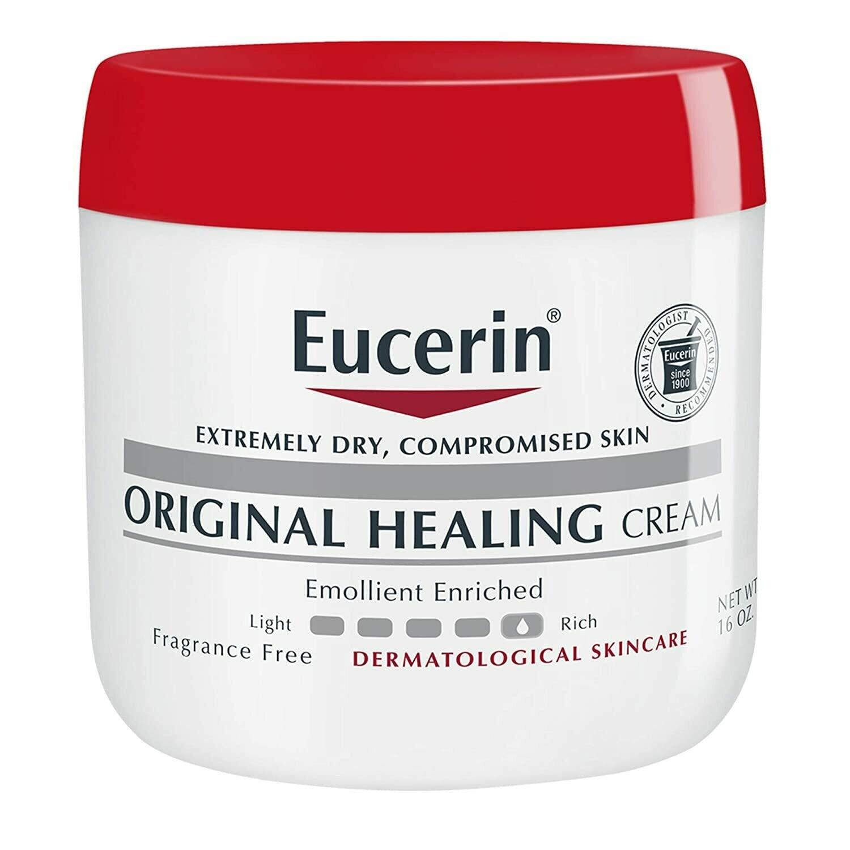 Eucerin Original Healing Cream, Fragrance Free, 16 Ounce