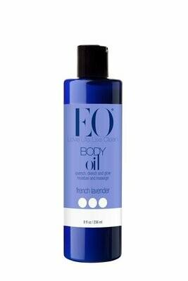 EO Body Oil for Massage & Moisture, French Lavender, 8 Ounce