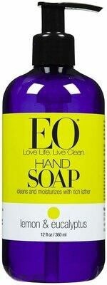 EO Products Liquid Hand Soap, Lemon & Eucalyptus, 12 Ounce