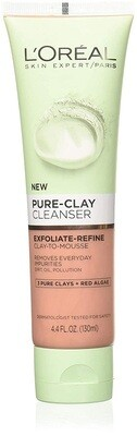 LOreal Paris Pure Clay Facial Cleanser, 4.4 fl Ounce