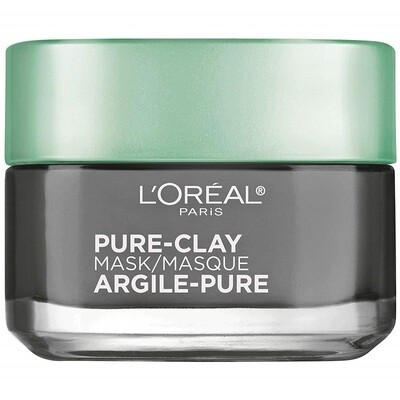 LOreal Paris Pure Clay Face Mask with Charcoal, 1.7 Ounce