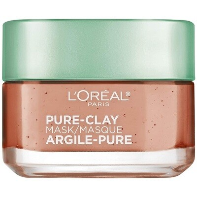 LOreal Paris Pure Clay Face Mask with Red Algae, 1.7 Ounce