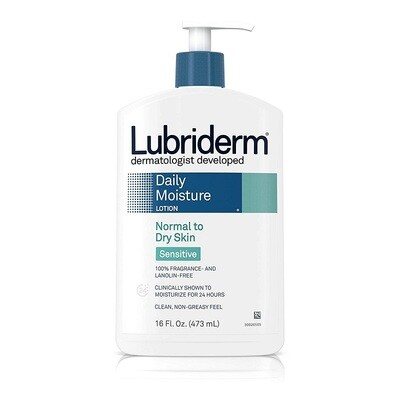 Lubriderm Daily Moisture Lotion Normal to Dry Skin, Sensitive, 16 fl Ounce