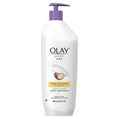 Olay Quench Ultra Moisture Shea Butter Body Lotion, 20.2 fl Ounce